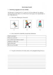 English Worksheets: Talking about yourself - Exercises