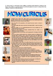 English Worksheets: HOW CURIOUS