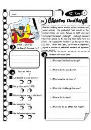 English Worksheets: RC Series Level 1_34 Charles Lindbergh