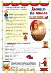 English Worksheet: Going to the Movies  -   Inviting a friend  +  Buying tickets   -  Focus on Reading and Speaking