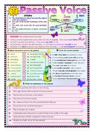 English Worksheets: THE PASSIVE VOICE