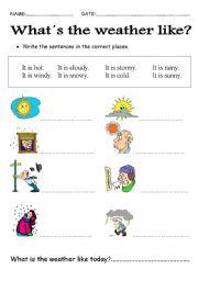 Weather Esl Worksheet By Laska