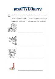 English Worksheet: Humpty Dumpty