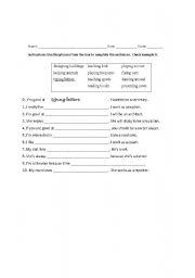 Printables Gerund Phrase Worksheet gerund phrases worksheet bloggakuten english teaching worksheets gerunds and infinitives