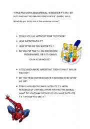 English worksheet: Television page 3