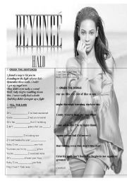 English Worksheets: HALO by Beyonce