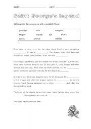 English Worksheet: Saint George