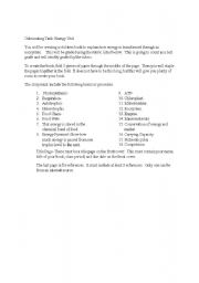 English Worksheet: Rubric for Ecology  / food chain / children�s book