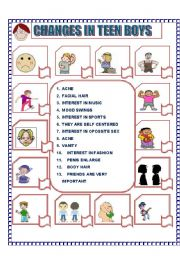 Printables Puberty Worksheets worksheet changes in teen boys puberty english puberty