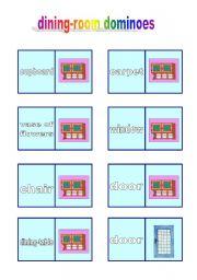 English Worksheet: dining-room dominoes (10.04.10)