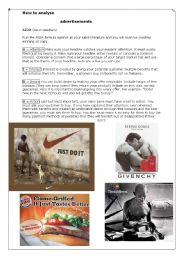 advertisement worksheets. Black Bedroom Furniture Sets. Home Design Ideas
