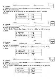 English Worksheets: daily worksheet