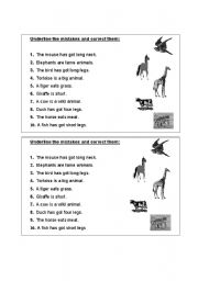 English Worksheets: correct the mistakes