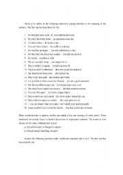 English Worksheet: Exercises with if and unless