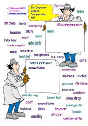 English Worksheets: SUMMER & WINTER