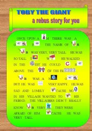 English Worksheets: TOBY THE GIANT. First Part