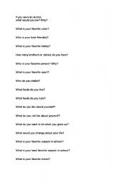 English Worksheets: Jar of Questions