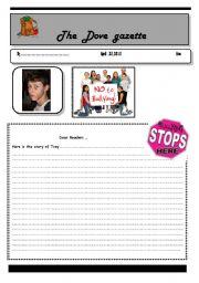 English worksheet: bullying -part 2