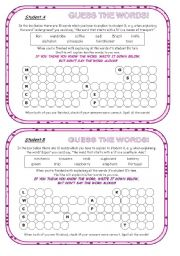 English Worksheets: Fully Editable Speaking And Spelling Fun Activity on General Vocabulary; 3 pages; good for adults, too!! :)))) Clear instructions and an extra template for a follow-up activity are included!!