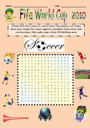Fifa World Cup soccer words
