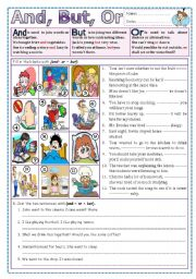 English Worksheet: And, But, Or?