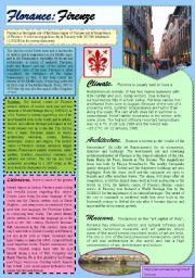 English Worksheets: Florance