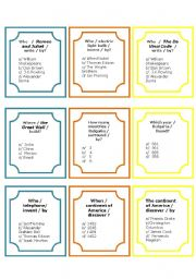 English Worksheet: Passive Voice Game - Activity cards+Rules + Answers