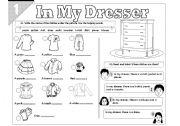 English Worksheet: In My Dresser 01