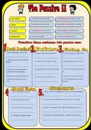English Worksheet: The Passive II-Past perfect/Future-will,going to/Modal verbs+b&w+key