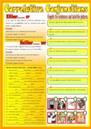 Correlative Conjunctions Activity Pack Common Core Aligned by ...