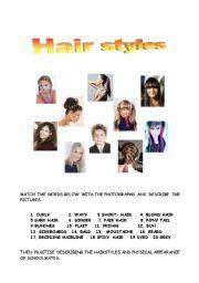 English Worksheet: Hairstyles