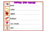 English Worksheets: Young learners: practise writing (starters 1-2-3) - 3 pages