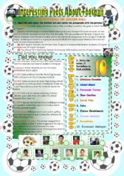 English Worksheet: Interesting Facts about Football