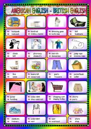 English Worksheets: American and British English - Goods and Shopping