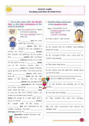 English Worksheet: Reviewing Basic Grammar Points series (9) - Past Simple and Past Continuous (all forms)