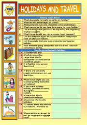 English Worksheet: WORKSHEET WHICH DEALS WITH THE TOPIC OF TRAVEL AND HOLIDAYS – HELEN MCK