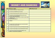English Worksheet: Money and Banking - includes Role-Play - No. 17
