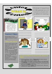 English Worksheets: What is Context?