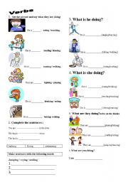 English Worksheets: Is and Are