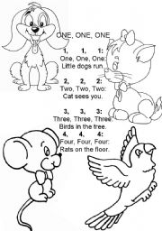 English Worksheets: A rhyme  One, one, one