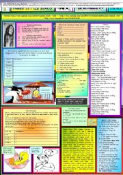 English Worksheets: THREE LITTLE BIRDS - BOB MARLEY - ONE PAGE