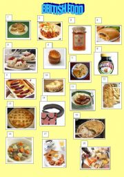 British food poster