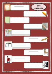 English worksheet:  Our classroom