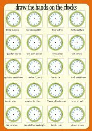 Time worksheet  - 2 colour pages