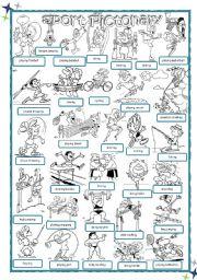 English Worksheet: Sport Pictionary
