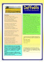 English Worksheets: daffodils
