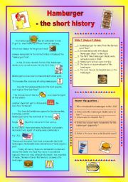 HAMBURGER - the short history & key (fully editable)
