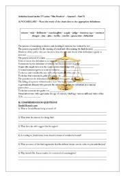 English Worksheets: Law (trial) vocabulary -