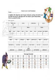 English Worksheet: Earth Day Secret Code Worksheet
