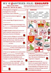 My Countries File: England